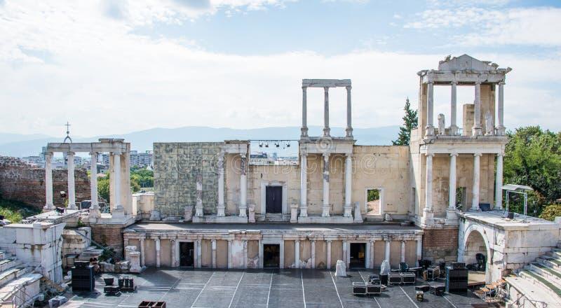 Plovdiv Roman theater stock fotografie