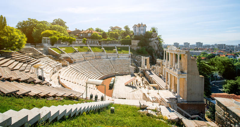 Plovdiv Roman theatre royalty free stock images