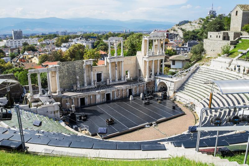 Plovdiv romareteater royaltyfria foton
