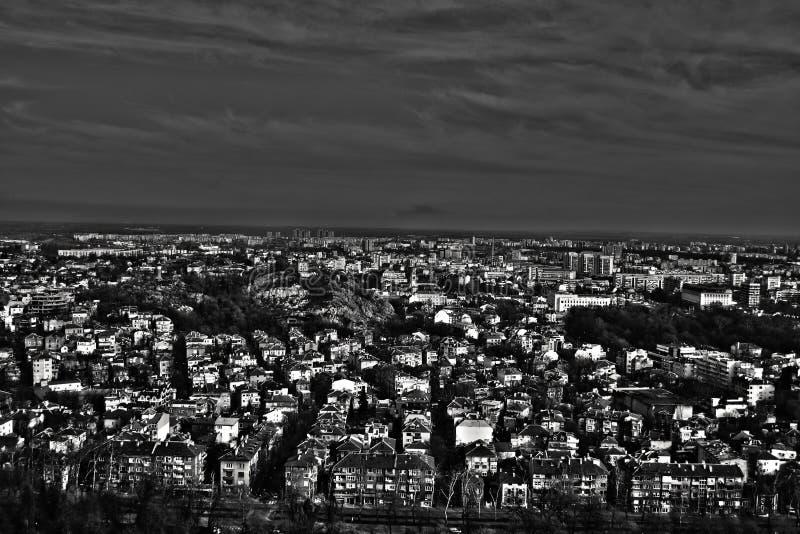 Plovdiv - vista foto de stock royalty free
