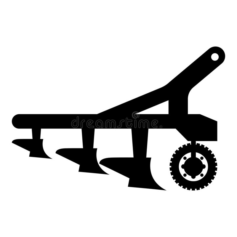 Free Plow For Cultivating Land Before Sowing Farm Products Tractor Machanism Equipment Industrial Device Icon Black Color Vector Royalty Free Stock Images - 164791669