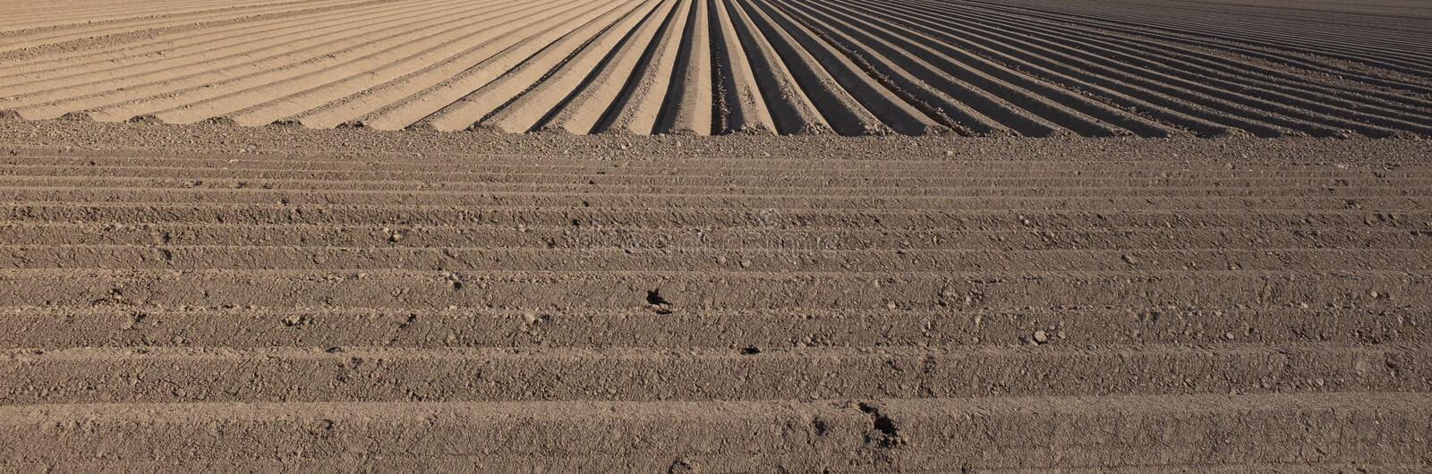 Plowed earth royalty free stock image
