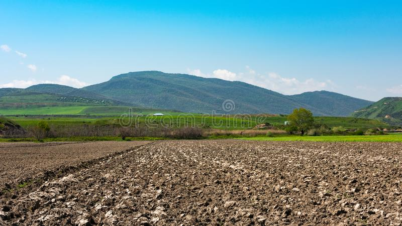 Plowed farm fields royalty free stock images