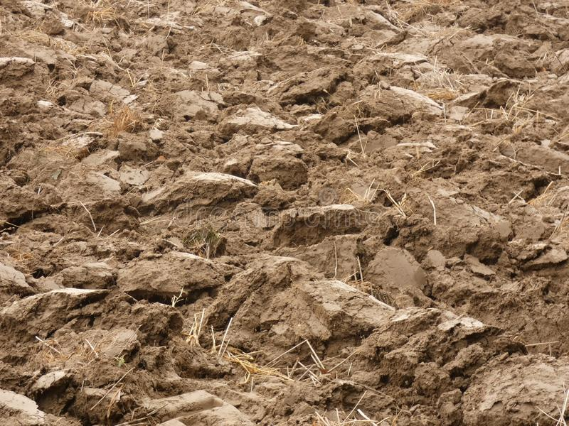 Plowed field tillage royalty free stock images