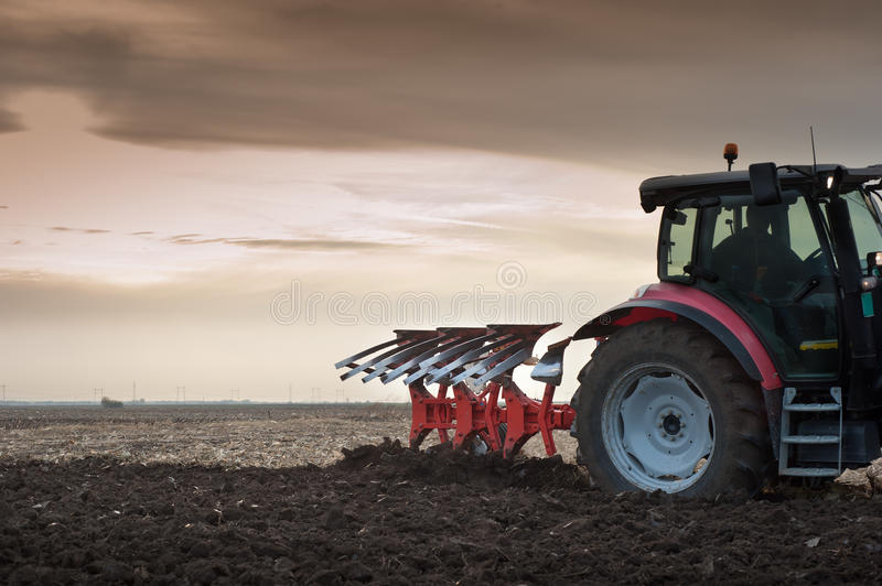 Download Plowing at dusk stock photo. Image of farmers, black - 21788474