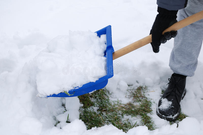 Plowing Snow royalty free stock image