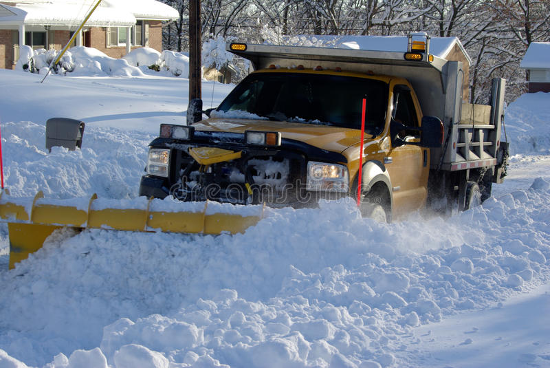 Plowing the Snow royalty free stock photos