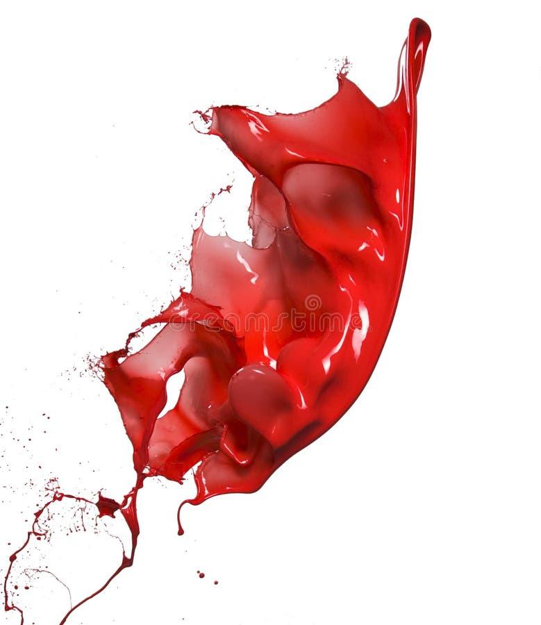 Pluśnięcia czerwona farba obrazy stock