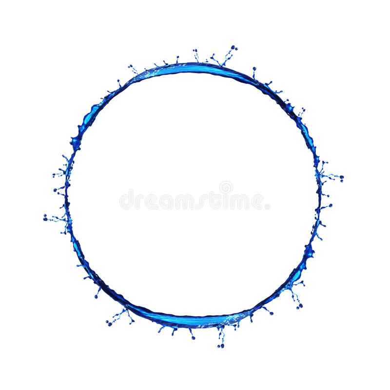 pluśnięcie błękitny woda obraz stock
