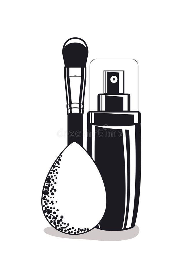 Pluśnięcie butelka z muśnięciem i kropla uzupełniamy produkty royalty ilustracja