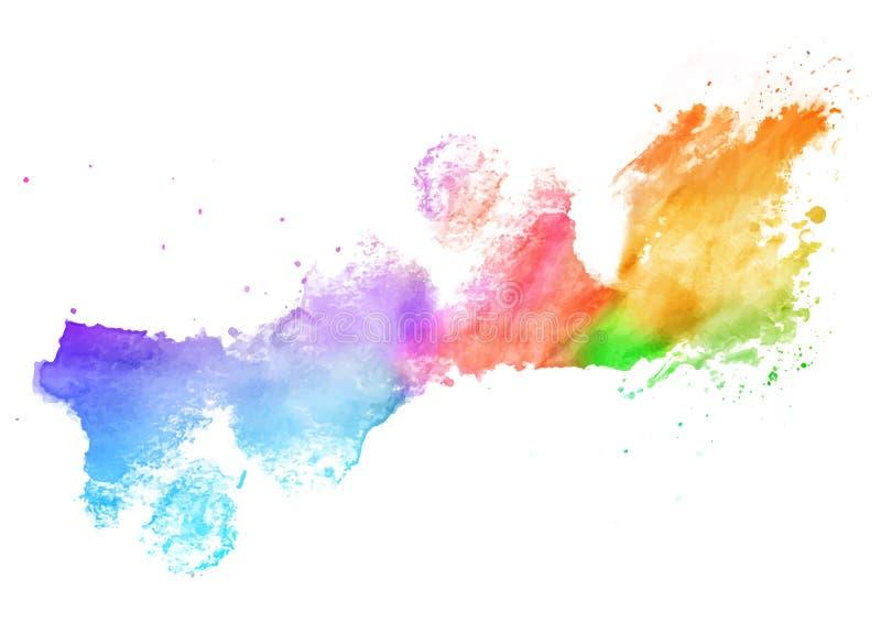 pluśnięcie kolorowa akwarela ilustracja wektor