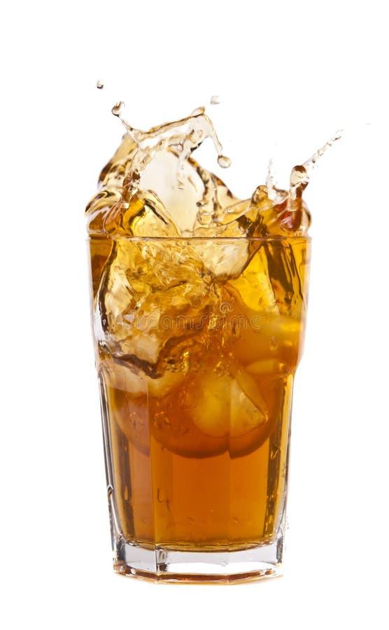 pluśnięcie lodowa herbata obrazy stock