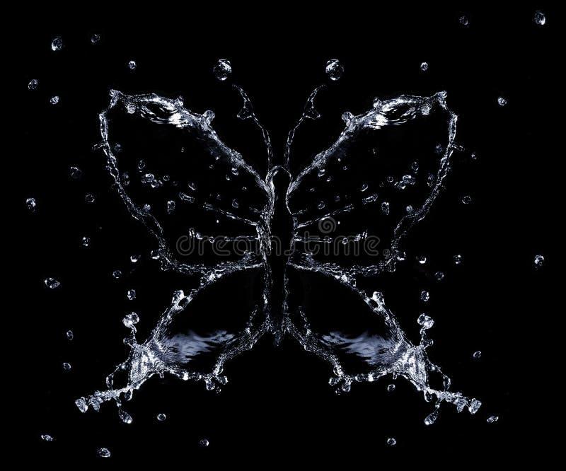 pluśnięcie motylia woda zdjęcie stock
