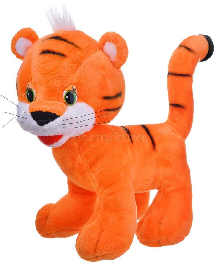 Pluche oranje stuk speelgoed tijger royalty-vrije stock foto's