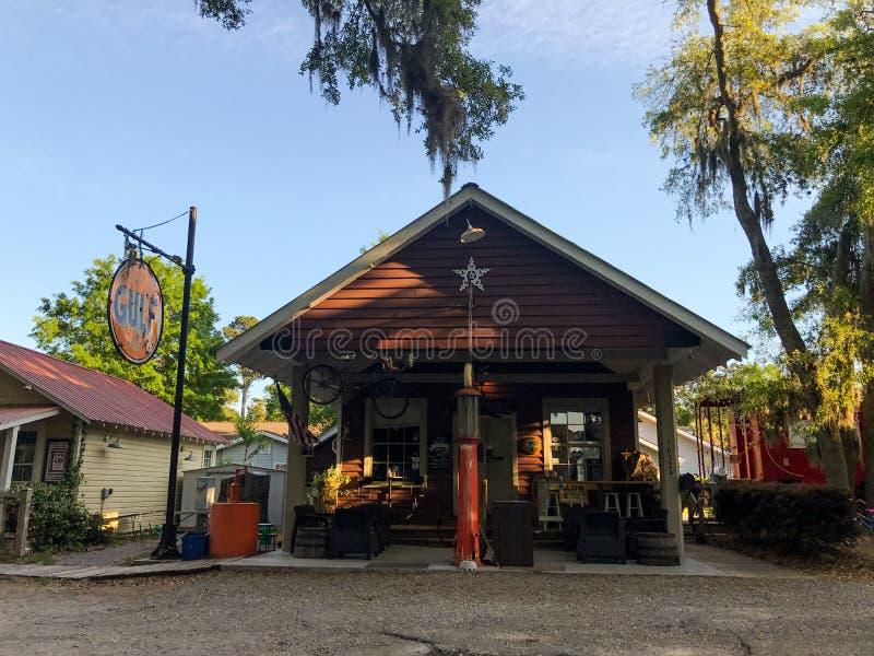 Pluff Mudd, επιχείρηση καφέ, Port-Royal, νότια Καρολίνα στοκ φωτογραφία με δικαίωμα ελεύθερης χρήσης