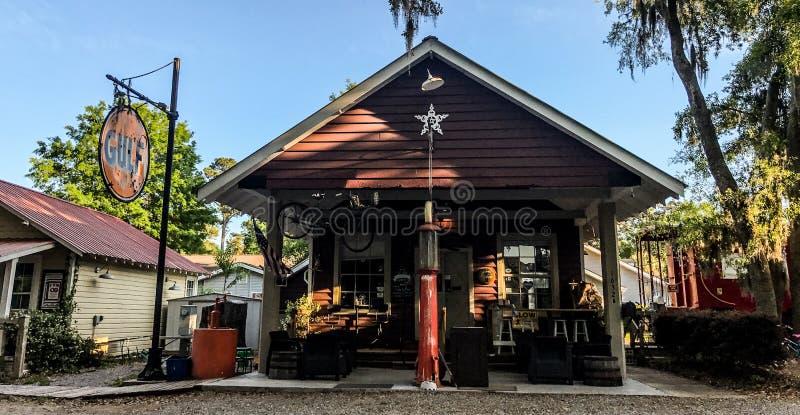 Pluff Mudd, Café Empresa, Port Royal, South Carolina fotos de stock