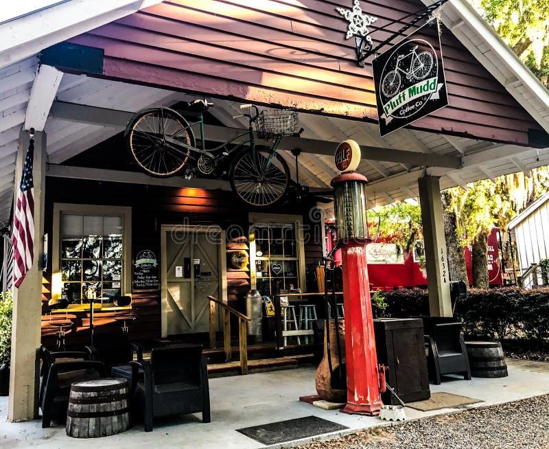 Pluff Mudd, Café Empresa, Port Royal, South Carolina imagens de stock