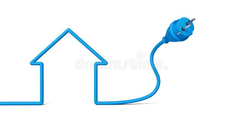 Plug house stock illustration. Illustration of knoll - 36690333