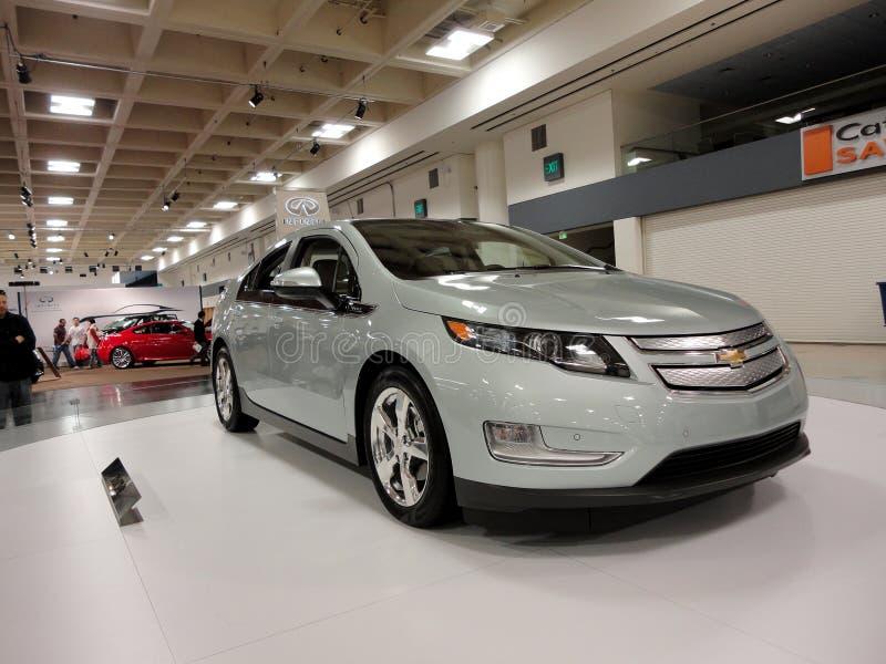 Plug-in Hybrid car the Chevy Volt on display