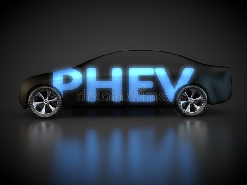 Plug-in hybrid electric vehicle stock illustration