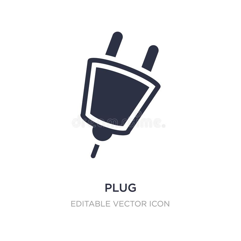 plug icon on white background. Simple element illustration from Signs concept royalty free illustration