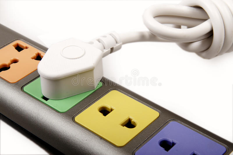 Plug In Power-board Royalty Free Stock Images