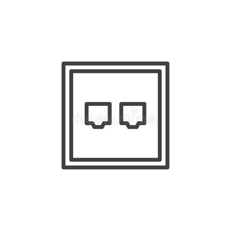 Ethernet Port Line Icon Stock Vector Illustration Of Logo 108616090