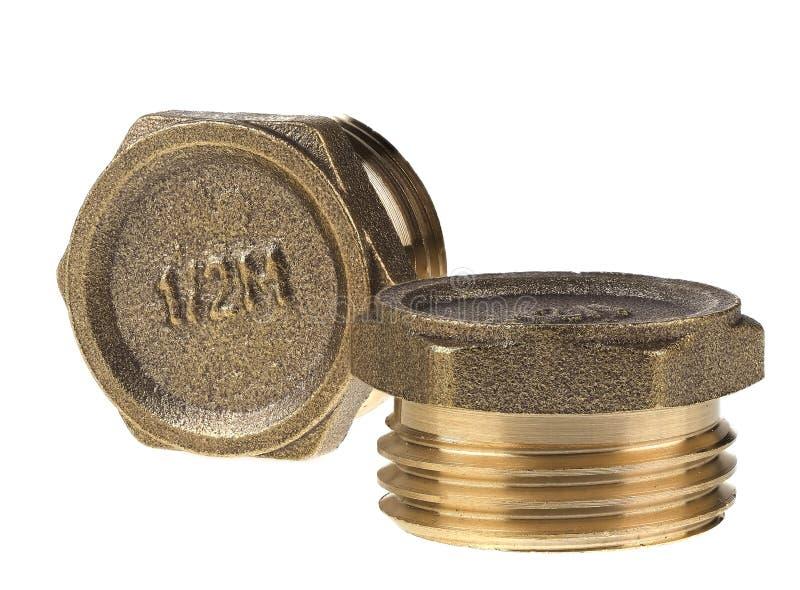 Plug or stopgap with 1/2` thread stock photo