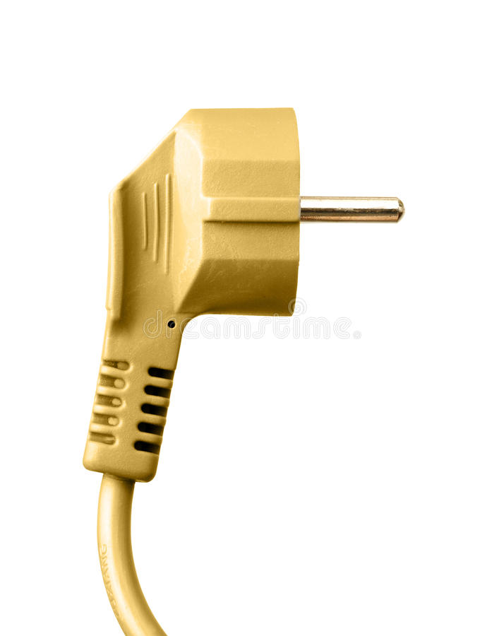 Plug and wire royalty free stock images