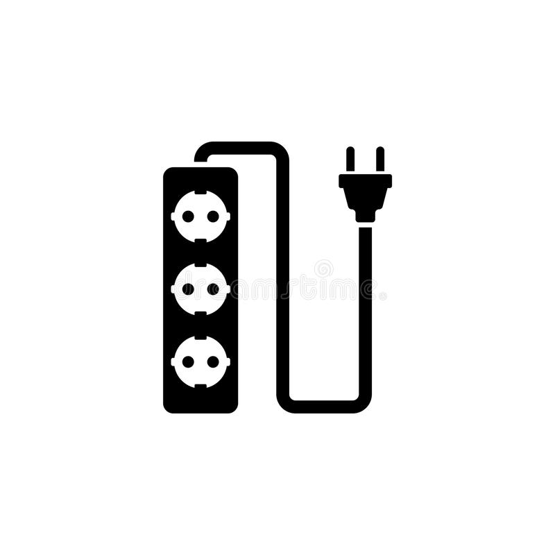 Plug Wire Socket Flat Vector Icon Stock Vector - Illustration of ...
