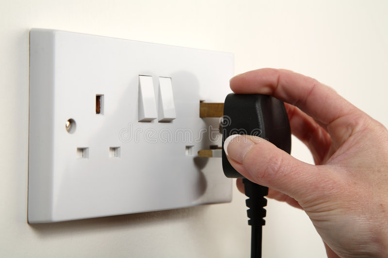 Plugging in stock image