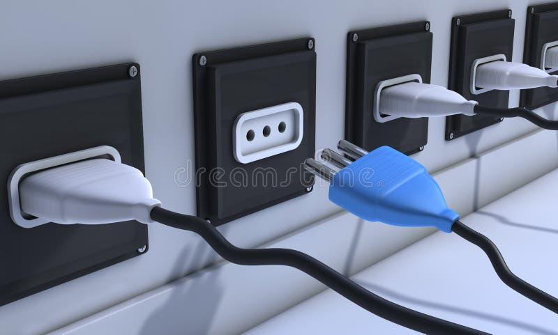 Plugs stock illustration
