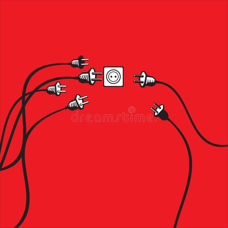 Plugs and socket royalty free illustration