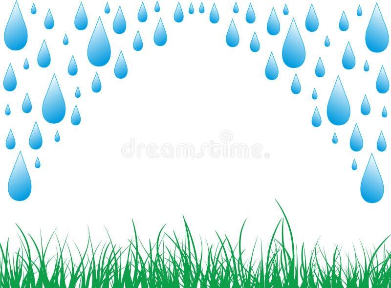 pluie illustration stock