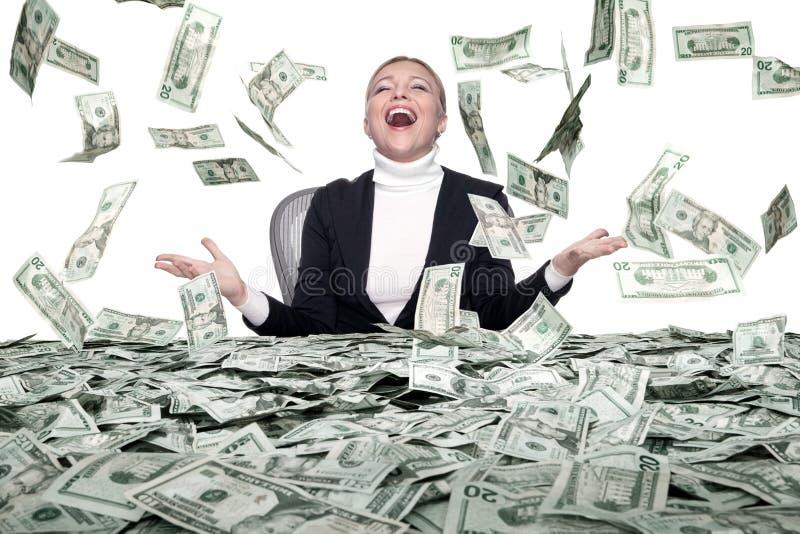 Pluie d'argent photographie stock