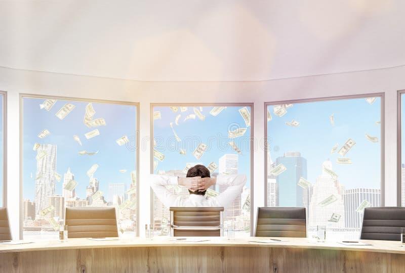 Pluie d'argent de salle de conférence illustration stock
