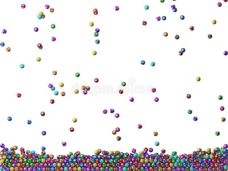 Pluie de boules de loterie illustration libre de droits
