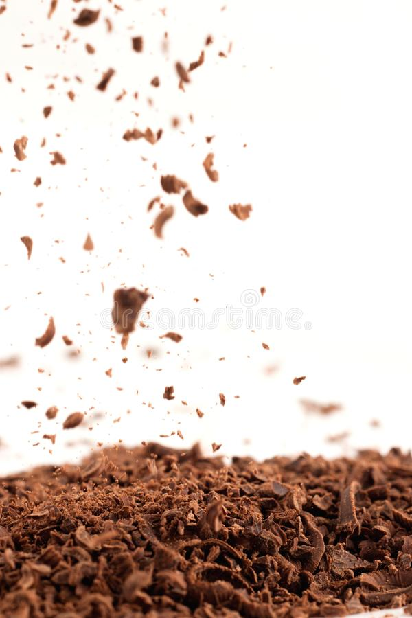 Pluie de chocolat photos libres de droits