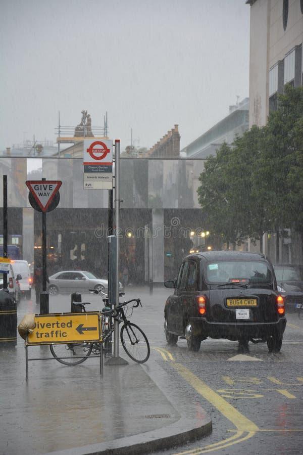 Pluie de Londres photos libres de droits