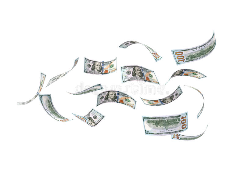 Pluie des dollars illustration stock