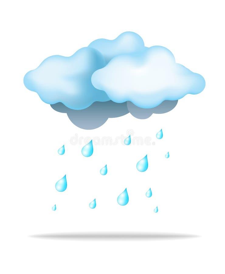 Pluie et nuage illustration libre de droits