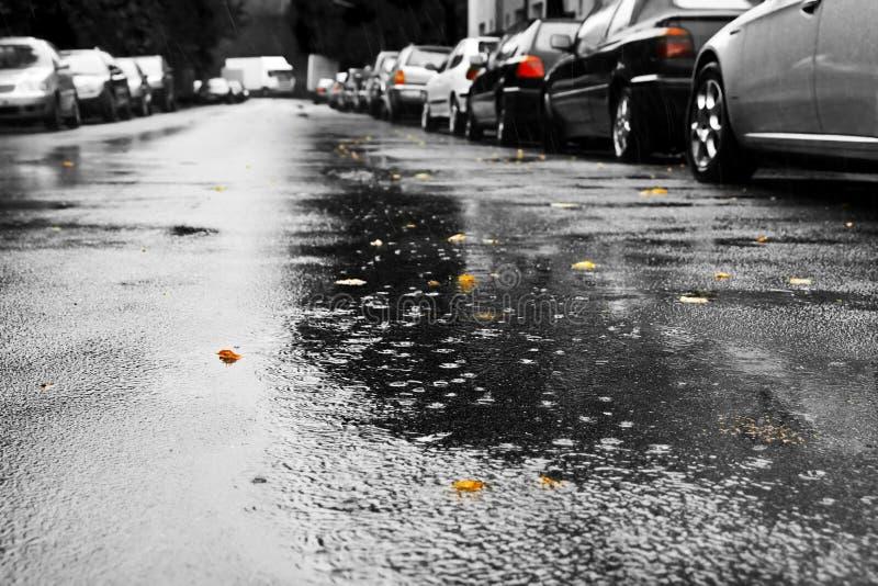 Pluie et véhicules photos libres de droits