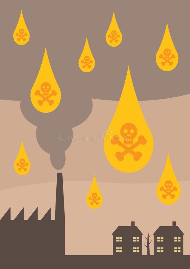 Pluies acides illustration de vecteur