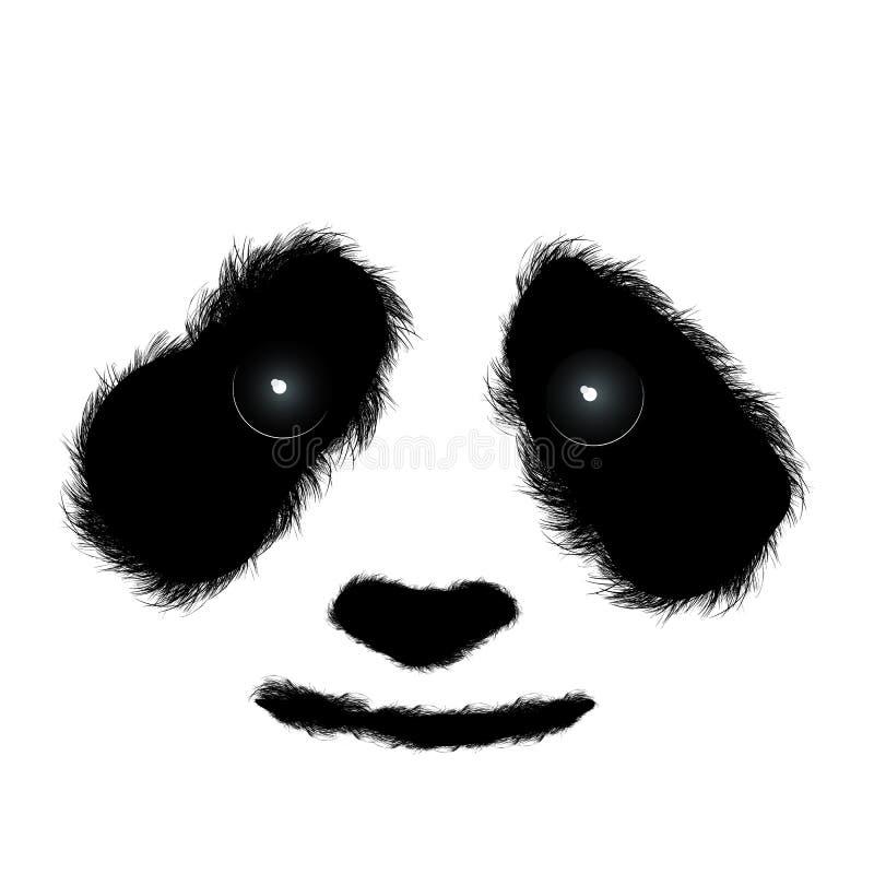Pluizige panda vector illustratie