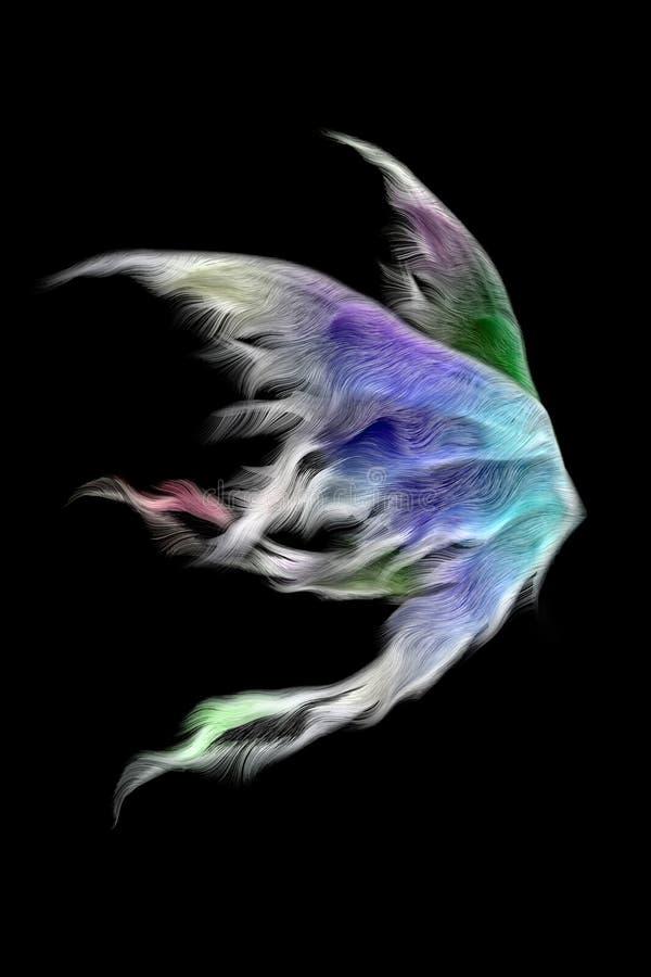 Pluizige vleugels royalty-vrije illustratie