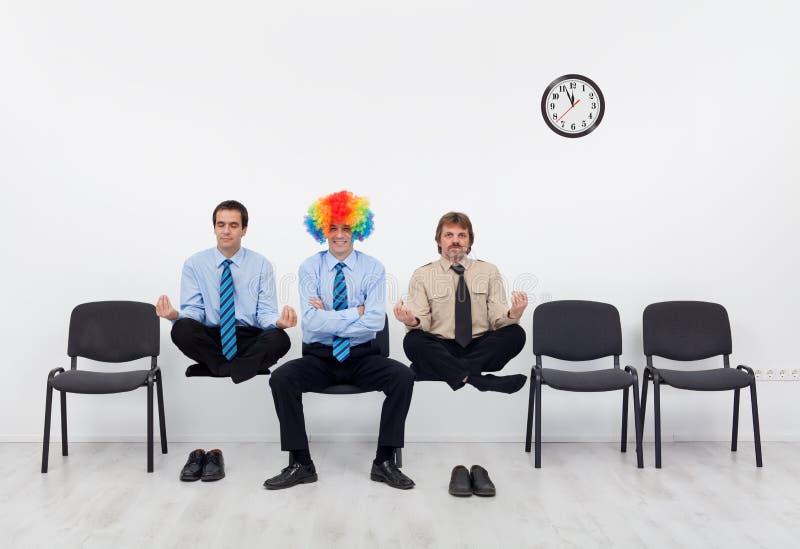 Pluk de gemiddelde kandidaat voor de baan stock foto's
