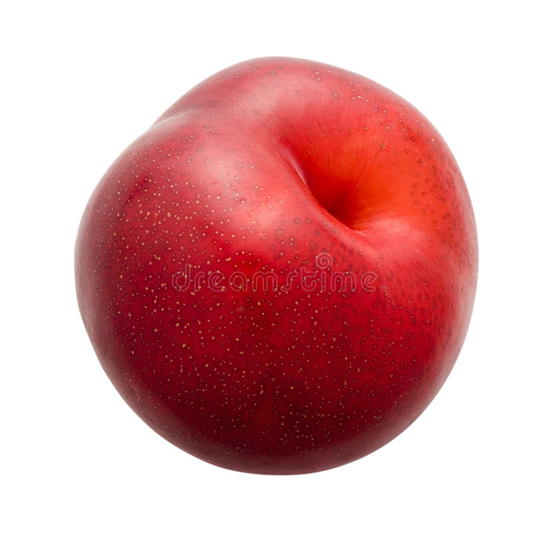 Plum. Isolated on a white background. Isolation is on a transparent layer in the PNG format royalty free stock images