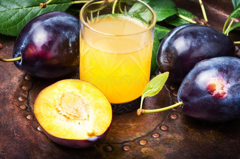 Plum alcoholic drink royalty free stock photography
