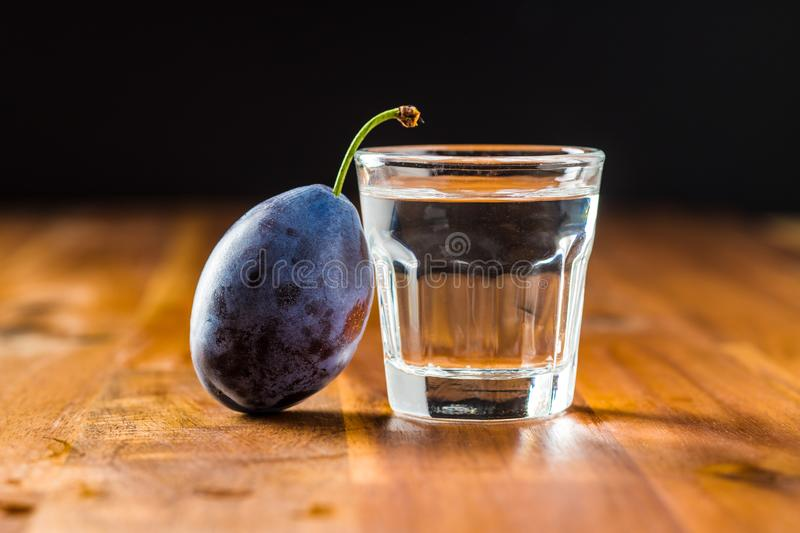 Plum brandy and plums. Slivovitz. royalty free stock images