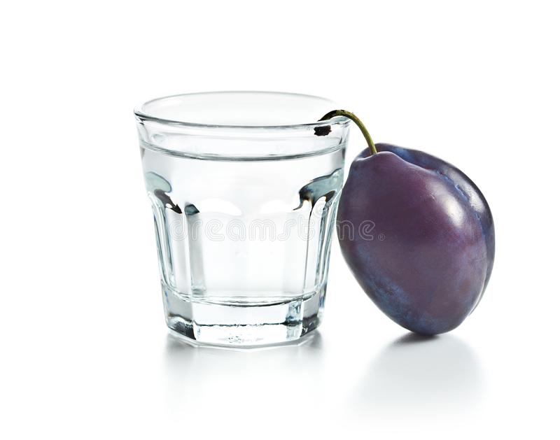 Plum brandy and plums. Slivovitz. royalty free stock photography
